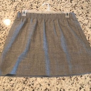 J. Crew Pleated mini skirt in flecked wool Size 10